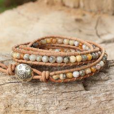 Jasper wrap bracelet, 'Inner Balance' at The Hunger Site