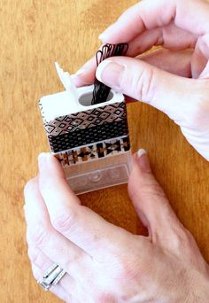 DIY Bobby Pin Holder - Use a tic tac box as a bobby pin holder