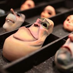 LAIKA  Boxtrolls  |  The good people of Cheesebridge prior to putting on their faces in the morning.