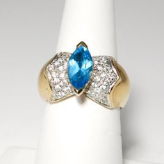 Vintage 1980's Glam Marquise London Blue by VintageMeetModern, $20.00