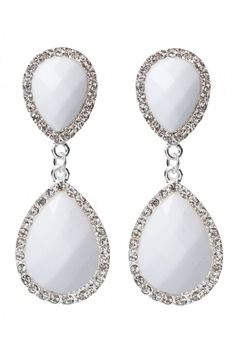Facet Stone Diamante Drop Earrings in #White - 17775 - from @colette by colette hayman (AUD $9.95).