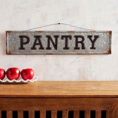 Shop for a variety of unique wall art at Pier 1 Imports. Warm Home Decor, Home Decor Kitchen, Diy Home Decor, Rustic Country Kitchens, Rustic Kitchen, Pantry Sign, Craft Day, Unique Wall Art, Wall Signs