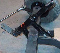 Resultado de imagen para homemade go kart steering Diy Electric Car, Electric Go Kart, Go Kart Steering, Soap Box Cars, Char A Voile, Homemade Go Kart, Kart Parts, Go Kart Plans, Diy Go Kart