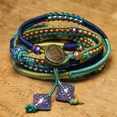 "DIY Wrap Bracelet ""Setting the Mood"" Tutorial from BeadShop.com.At the link there are tutorials and videos for making this DIY Wrap Bracelet as well as a detailed PDF download instruction sheet. ""The following skills are taught to make this gorgeous..."