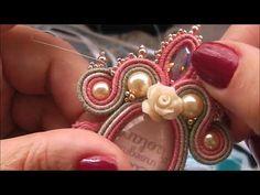 Soutache - Flop del mese - YouTube Brooch, Floral, Earrings, Fabric, Youtube, Flowers, Jewelry, Ear Rings, Tejido