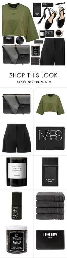 """Crushing on a that black @atmayfair bag"" by floralandmay ❤ liked on Polyvore featuring Victoria Lam, Alberta Ferretti, NARS Cosmetics, Byredo, Tom Ford, Christy, Little Barn Apothecary, Givenchy, blog and mules"