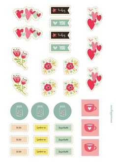 FREE printable floral planner stickers by To Do Planner, 2017 Planner, Free Planner, Happy Planner, Kikki K, Printable Planner Stickers, Free Printables, Download Planner, Image Digital