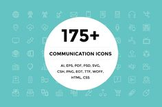 175+ Communication Icons by Creative Stall on @creativemarket