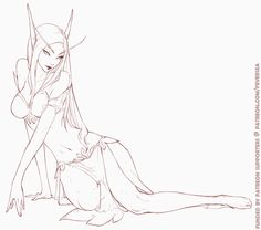 Blood elf sketch | World of Warcraft