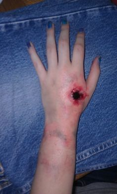 how to make fake zombie bullet wound