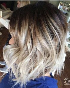 Blonde Ombre Short Wavy Haircut