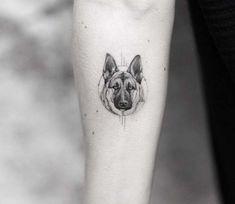 German shepherd tattoo Minimalist tattoo Animal tattoos Dog memorial tattoos Small tattoos Dog tattoos - German Shepherd tattoo by Alessandro Capozzi - Wolf Tattoos, Animal Tattoos, Phönix Tattoo, Tattoo Trend, Brain Tattoo, Tattoo Fonts, Tattoo Quotes, German Shepherd Tattoo, German Shepherd Dogs
