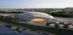 Rabat Grand Theatre in Bouregreg Valley by Zaha Hadid