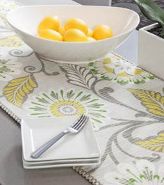 Ready for spring & summer? Have this table runner ready for your next dinner party! @HGTV HOME