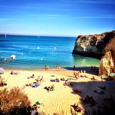 Lagos from the viewpoint of skyscanner writer; It's in between Sagres and Portimão, so also easily accessible by public transportation. Lagos really packs quite a punch for its small size in terms of beautiful beaches and vigorous nightlife. It was definitely my favorite spot in the Algarve and a place I could definitely see myself staying for an entire summer