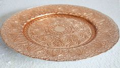 Buy Charger Plate Vintage Design -Rose Gold from Chair Cover Depot