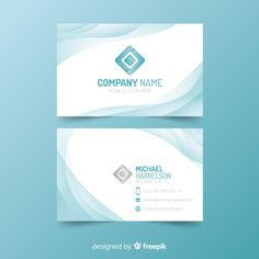 Business card template with abstract shape Free Vector Check the link if you want to use it, remember to read the license. Business Cards Layout, Beauty Business Cards, Cool Business Cards, Business Card Design, Letterhead Design, Brochure Design, Slide Design, Flat Design, Free Printable Business Cards