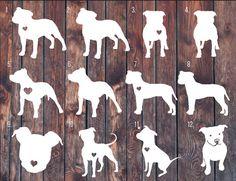 Pitbull decal, pitbull sticker, Love a bull, car decal, pitbull heart, pitbull parent, dog decal.
