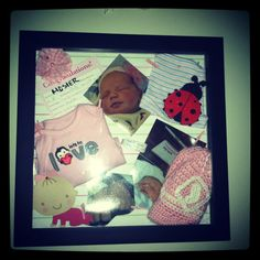baby memory frame looks more lively than the average shadowbox like the