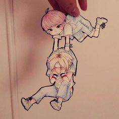 Woozi & Hoshi - SEVENTEEN // Fan Art