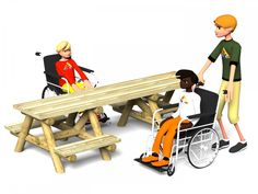 Wheelchair Accessible Picnic Table | Action Play & Leisure