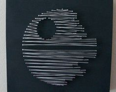 Star Wars Millennium Falcon Nail and String Wall Art Shelf Art