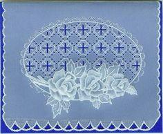 Bea Lützen Rosen Entwurf aus Parchment Craft