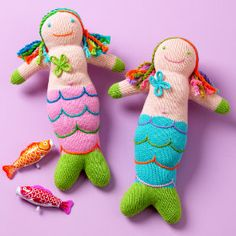 Mermaid dolls! Need to make similar dolls for the girls for Christmas.
