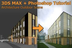 3DS MAX + Photoshop Tutorial: Add Billboard Tree and People to Outdoor Architectural Scene » tonytextures.com