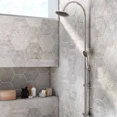 Discover recipes, home ideas, style inspiration and other ideas to try. Pool House Bathroom, Bathroom Floor Tiles, Bathroom Renos, Grey Bathrooms, Tile Floor, Small Bathroom, Master Bathroom, Nature Bathroom, Bathroom Gray