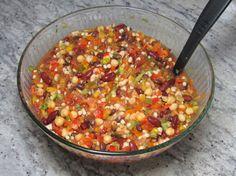 Summer Bean Dip.  Gluten free and vegetarian.