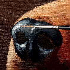 Painting Dog Portraits in Acrylics Animal Paintings, Animal Drawings, Pencil Drawings, Dog Drawing Tutorial, Drawing Tips, Acrylic Painting Techniques, Art Techniques, Dog Nose, Dog Portraits