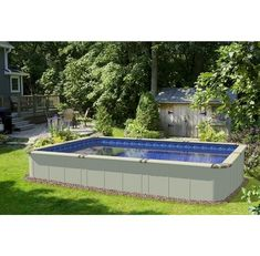 Rectangle Above Ground Pool -  #Above #Ground Check more at http://wwideco.xyz/rectangle-above-ground-pool/