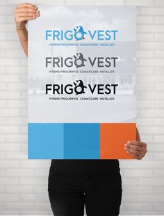 Logo design premium vector FrigoVest by Sinners Projects FrigoVest sells  refrigerating units 372887d2a76