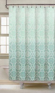 Tahari Luxury Cotton Shower Curtain Large Paisley