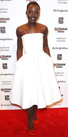 Look of the Day - December 3, 2013 - Lupita Nyong'o in Lanvin from #InStyle
