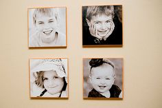 12X12 photos of kids mod podged onto painted wood. Would like to try this on canvas also.