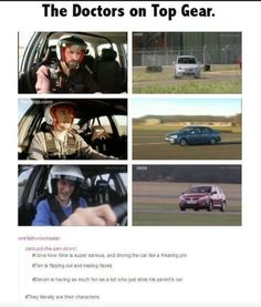 Top Gear and doctor who. Awewwww so cute