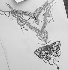 pink butterfly tattoo designs cool blue purple butterfly design butterflies pinterest. Black Bedroom Furniture Sets. Home Design Ideas