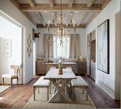 Neutrals. And that wood floor!