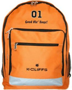 Dukes of Hazzard 01 General Lee Orange Backpack Bag     Click on the image c1cccbab86427