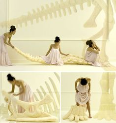 Life sized dinosaur bones is way cooler than pillows: Sayaka Yamamoto has designed replica of real dinosaur bones made from soft rubber-coated foam. Imagine yourself curling up on a T-Rex tail with a good book or sitting in front of your TV up on the horns of a Triceratops skull.