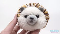 """"""" Three words that come to the mind for Japanese maker Tsubasa Kuroda, a. trikotri as she goes by online, in thinking about her craft of specialty: pom-pom animals. Pom Pom Crafts, Yarn Crafts, Felt Crafts, Pom Pom Animals, Felt Animals, Cute Crafts, Crafts For Kids, Preschool Crafts, Pom Pon"""