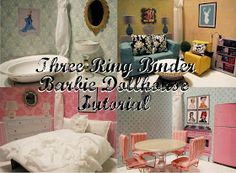 Southern Disposition: DIY Three Ring Binder Barbie Dollhouse Tutorial