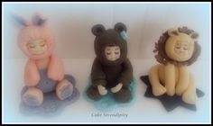 Fondant Baby Toppers