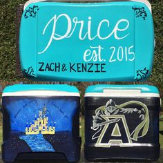 Custom Painted Cooler: Personalized Cooler 3 by theartoftraveling
