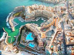 St Julians view from the sky, Malta Island...I got married there 11 years ago <3