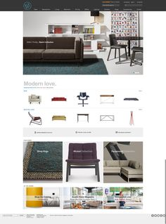 http://www.bludot.com/ The top banner images and simple text/headers are particularly successful and really emote the modern style the site is clearly trying to go for.