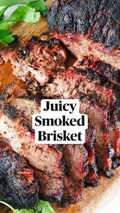 Beef Brisket Recipes, Traeger Recipes, Smoked Meat Recipes, Best Smoked Brisket Recipe, Crockpot Recipes, Slow Cooker Brisket, Smoked Beef Brisket, Grilled Recipes, Healthy Meat Recipes