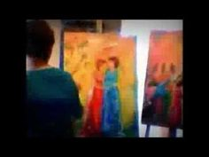 Karrie On Canvas- Karrie Evenson Paints - Sweet Moments - YouTube